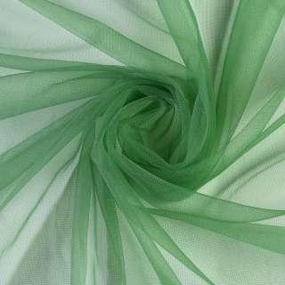 Сетка трикотажная прозрачная мягкая зеленая, ш.165
