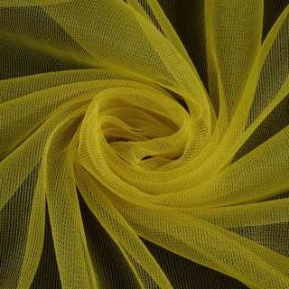 Сетка трикотажная прозрачная мягкая желтая, ш.165