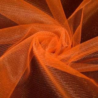 Сетка трикотажная с микрометанитью прозрачная оранжевая, ш.160