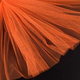 Сетка мягкая тонкая оранжево-красная ш.165