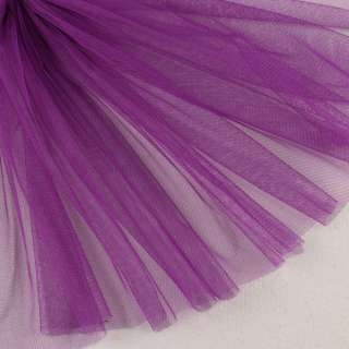 Сетка мягкая тонкая фиолетовая яркая, ш.160