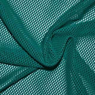 Сетка трикотажная соты бирюзовая темная ш.160
