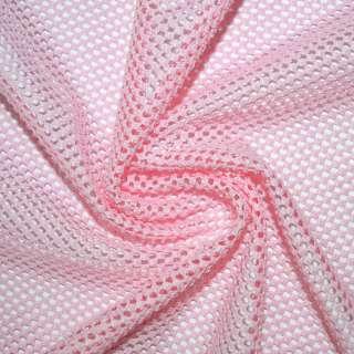 Сетка трикотажная соты розовая ш.170