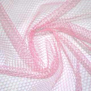Сетка жесткая соты бледно-розовая ш.150