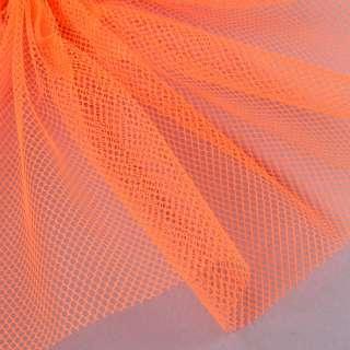 Сетка жесткая соты оранжевая неоновая, ш.155