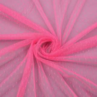 Сетка мушка мелкая розовая неоновая, ш.150