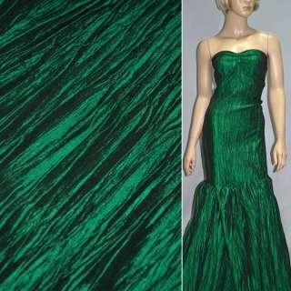 Тафта жатая зеленая темная ш.130