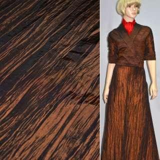 Тафта жатая коричневая с рыжим отливом ш.130