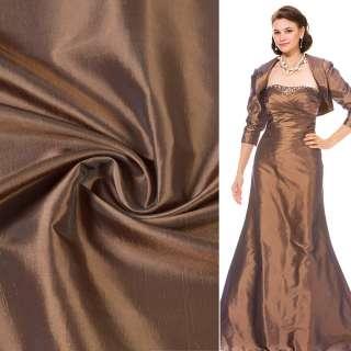 Тафта коричнево-золотистая ш.150