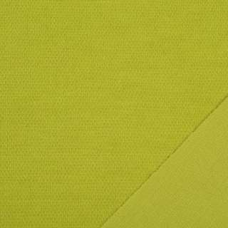 Трикотаж костюмный двухсторонний горчичный, ш.150