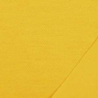Трикотаж костюмный двухсторонний желтый, ш.150