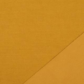 Трикотаж костюмный двухсторонний желтый темный, ш.150