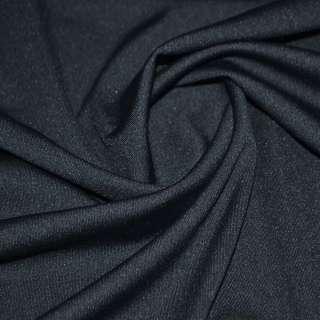 Трикотаж костюмный облегченный синий темный ш.160