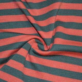 Трикотаж с вискозой в полоски 10мм серые и красные ш.172