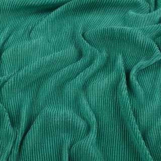 Трикотаж гофре зеленый ш.160 (продается в натянутом виде)