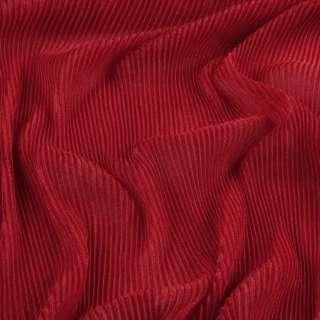 Трикотаж гофре красный ш.160 (продается в натянутом виде)
