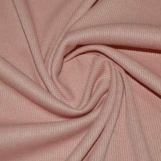 Трикотажная резинка персиковая темная ш.134