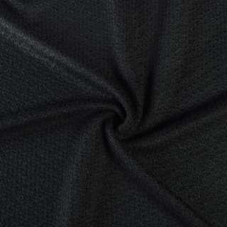 Трикотаж вязаный двухсторонний акриловый черный ш.165