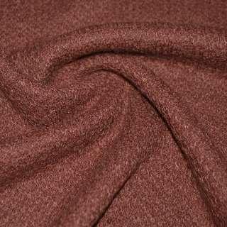 Трикотаж вязаный двухсторонний акриловый коричнево-красный ш.170
