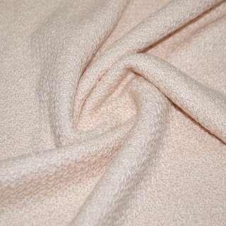 Трикотаж вязаный двухсторонний акриловый розовато-персиковый ш.165