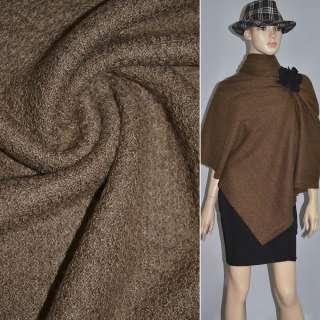 Трикотаж вязаный двухсторонний акриловый коричневый ш.170
