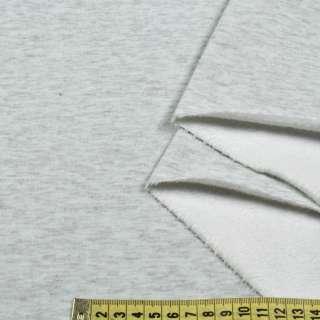 Трикотаж на велсофте серый меланж ш.180