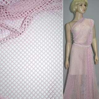 Сетка трикотажная розовая ш.150