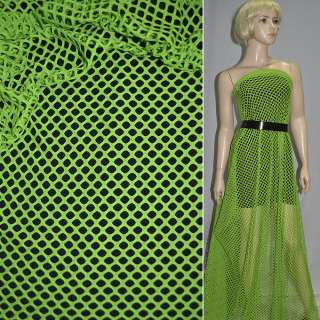 Сетка трикотажная ярко-зеленая ш.150