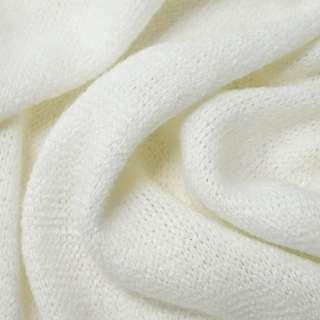 Трикотаж с шерстью вязаный белый ш.180