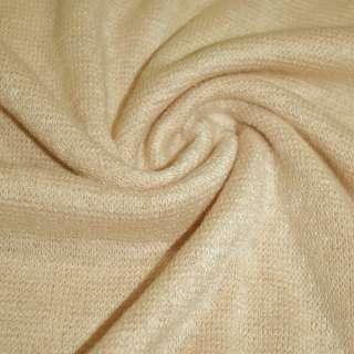 Трикотаж с шерстью вязаный пшеничный (оттенок розовый) ш.175