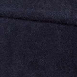 Ангора длинноворсовая трикотаж синяя темная ш.125