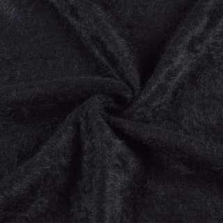 Ангора длинноворсовая, трикотаж черная ш.135