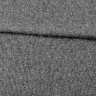 Ангора длинноворсная, трикотаж (чулок) серая с черными вкраплениями ш.230