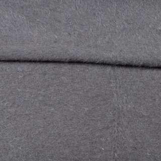 Ангора длинноворсовая трикотаж (чулок) серый на белой основе ш.220