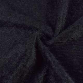 Ангора длинноворсная трикотаж черно-фиолетовая ш.142