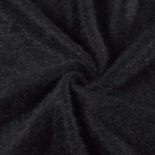 Ангора длинноворсовая трикотаж черная ш.135