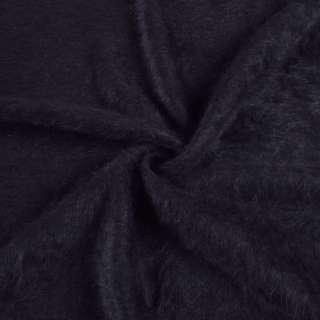 Ангора длинноворсовая трикотаж сине-черная ш.135