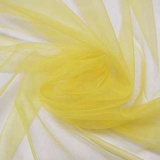 Сетка трикотажная прозрачная желтая ш.160