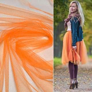Фатин оранжевый ш.160