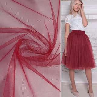 Фатин бордово-красный ш.160