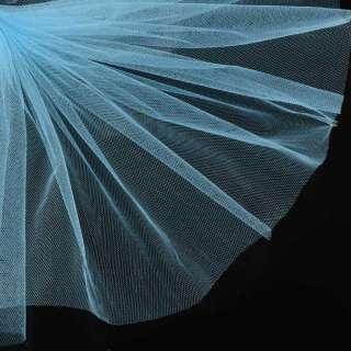 Фатин голубой яркий ш.160