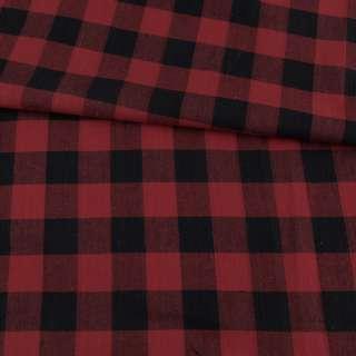 Фланель рубашечная в красно-черную клетку, ш.145