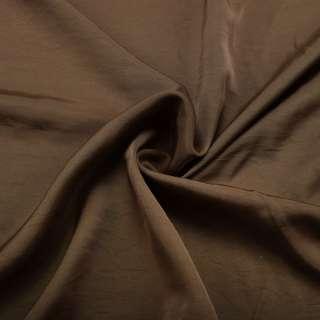 Шелк мокрый искусственный оливковый темный матовый ш.153