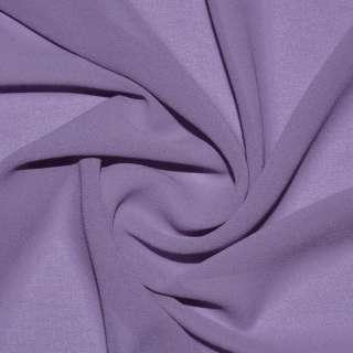 Креп-шифон стрейч фиолетово-серый ш.150
