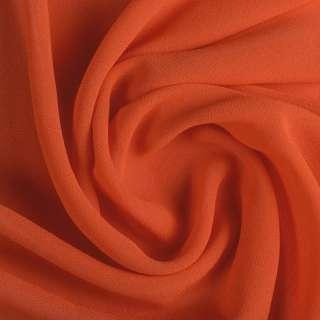 Креп-шифон стрейч оранжево-красный ш.150