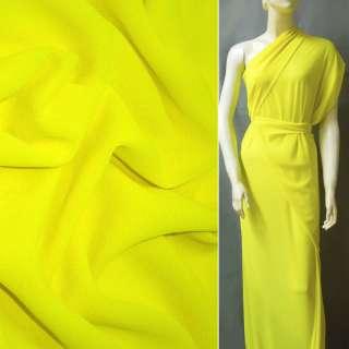 Креп-шифон стрейч желто-лимонный ш.150
