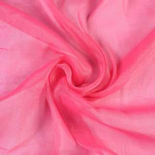 Шифон блестящий жатый малиново-розовый ш.150