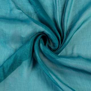 Шифон блестящий жатый синий светлый ш.150