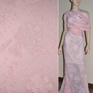 Деворе розовое гладкокрашеное ш.140
