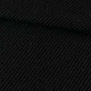 Букле пальтовое диагональ черное, ш.145